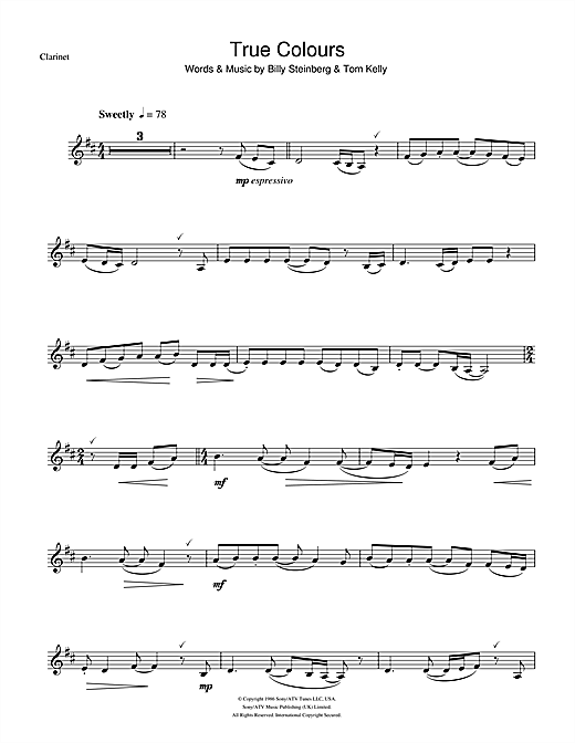 True Colours Sheet Music