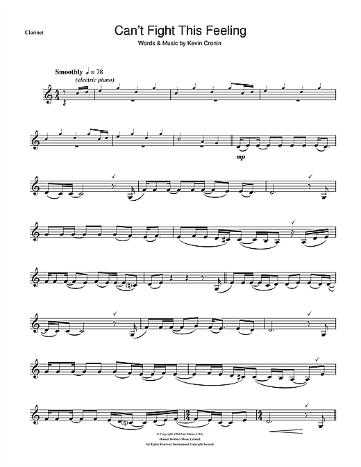Can't Fight This Feeling Sheet Music