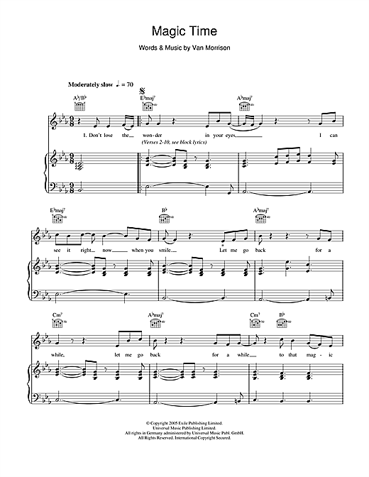 van morrison sheet music pdf
