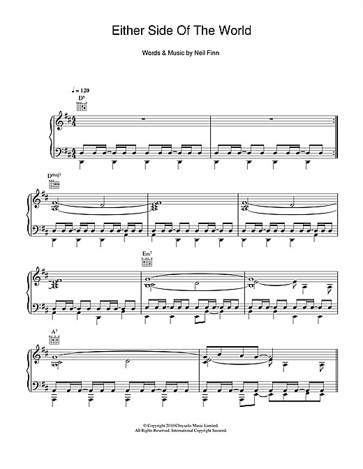 Either Side Of The World Sheet Music