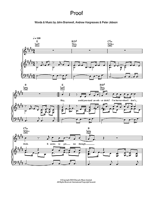 Proof (Piano, Vocal & Guitar (Right-Hand Melody))