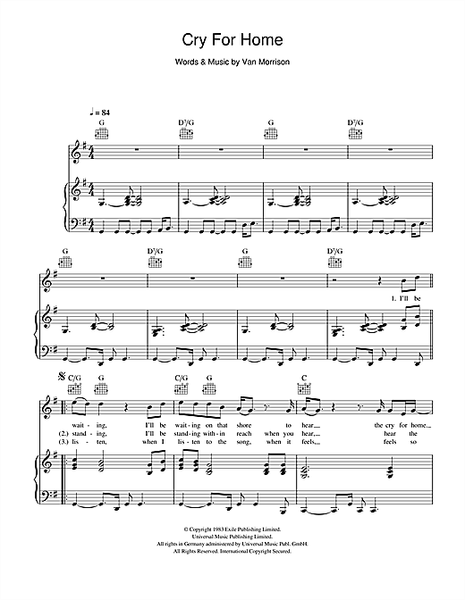 Cry For Home Sheet Music
