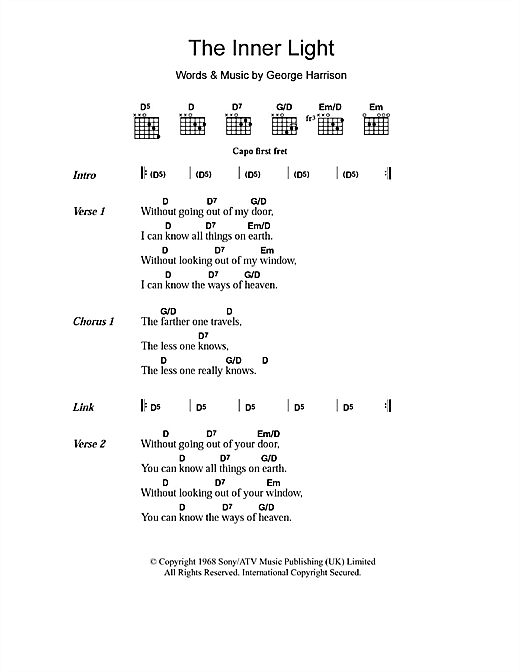 The Inner Light Sheet Music