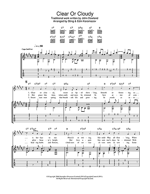 Clear Or Cloudy Sheet Music