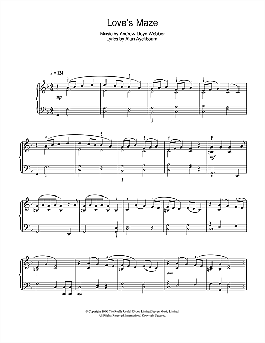 Love's Maze (from By Jeeves) Sheet Music
