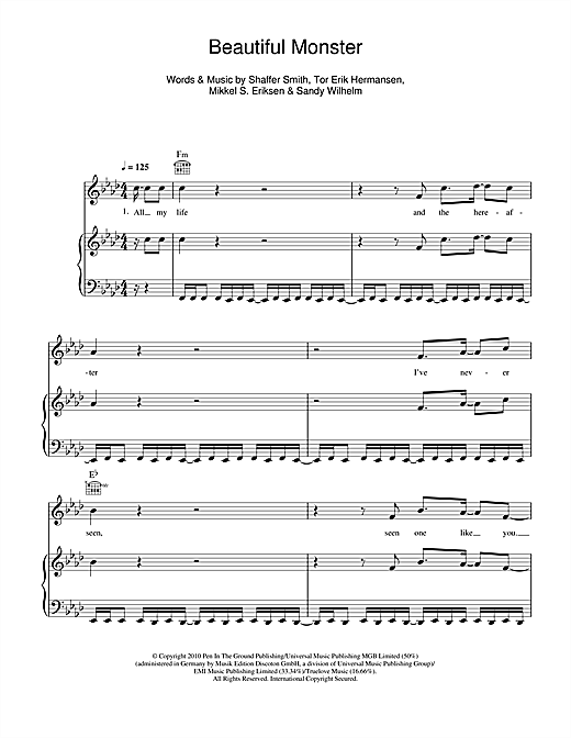 Beautiful Monster Sheet Music