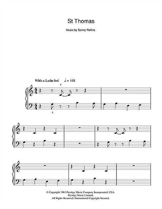 St Thomas Sheet Music