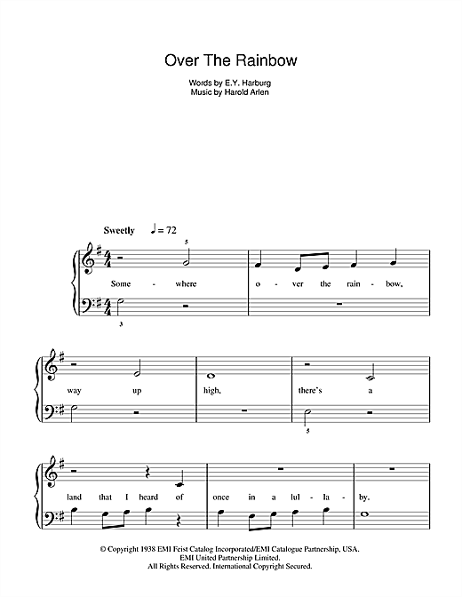 Over The Rainbow (from \'The Wizard Of Oz\') sheet music by Judy ...