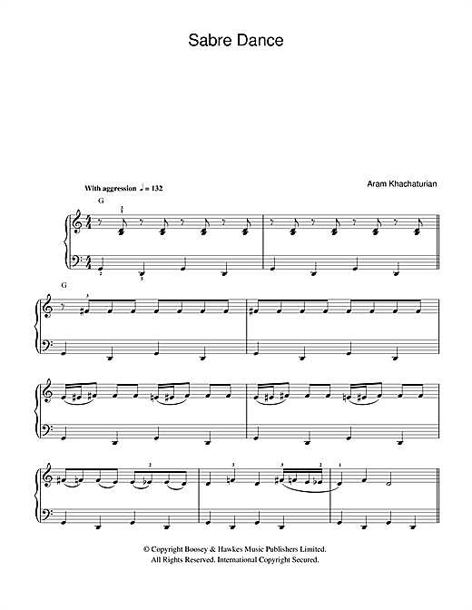Sabre Dance (from Gayane) Sheet Music