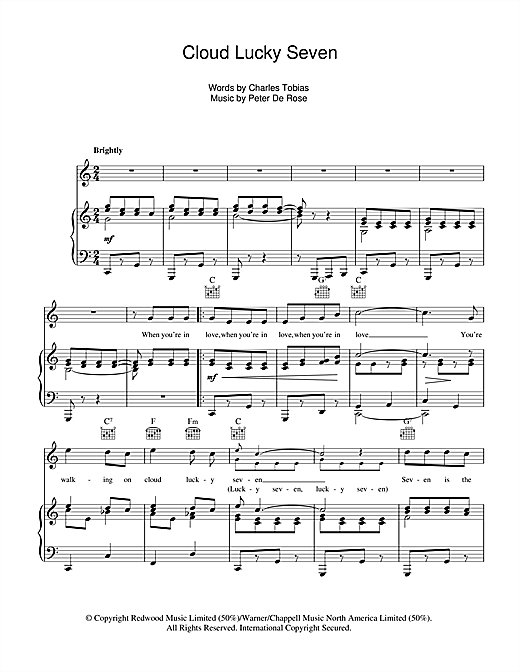 Cloud Lucky Seven Sheet Music