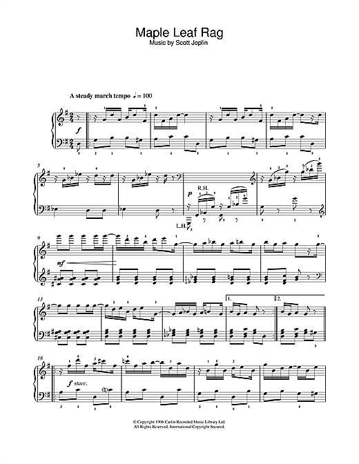 Maple Leaf Rag (Easy Piano)