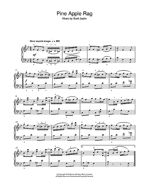 Pineapple Rag (Easy Piano)