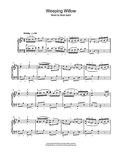 Weeping Willow Rag Sheet Music
