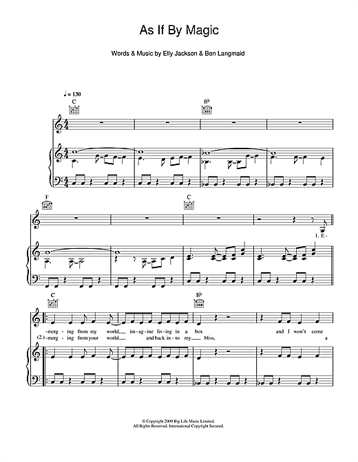 As If By Magic Sheet Music