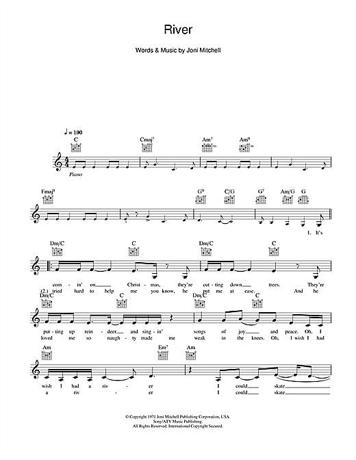 River Sheet Music