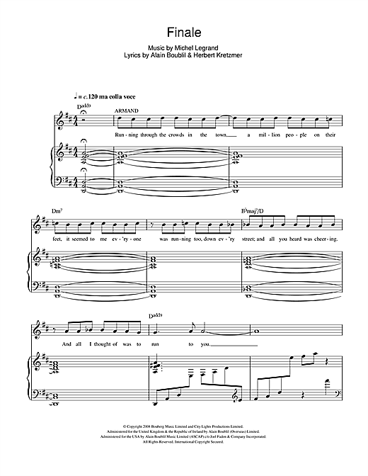 Finale (from Marguerite) Sheet Music