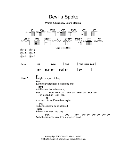 Devil's Spoke (Guitar Chords/Lyrics)