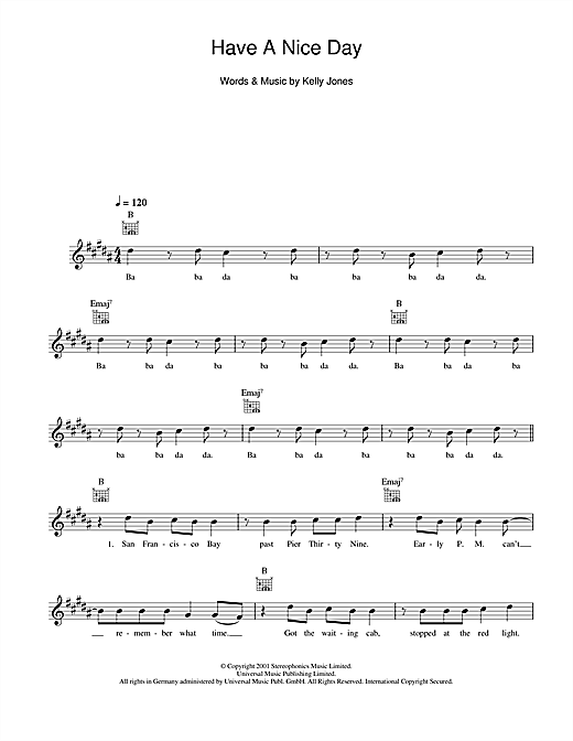 Have A Nice Day (Lead Sheet / Fake Book)