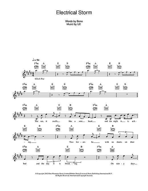 Electrical Storm Sheet Music