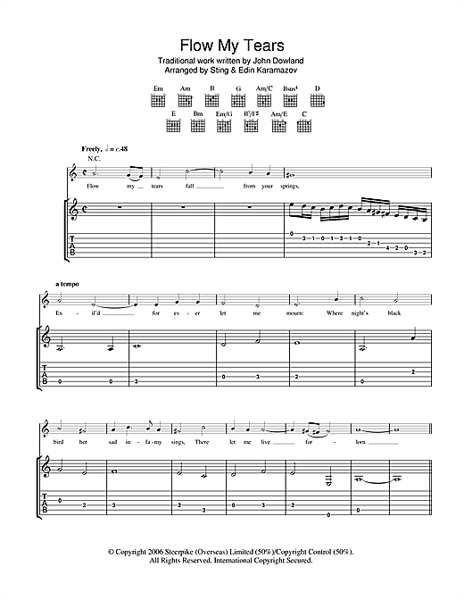 Flow My Tears Sheet Music