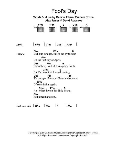 Fool's Day Sheet Music