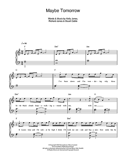 Maybe Tomorrow Sheet Music