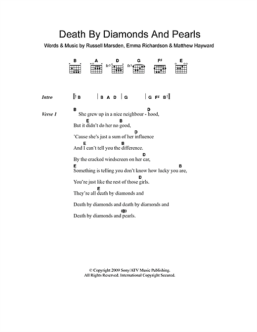 Death By Diamonds And Pearls Sheet Music