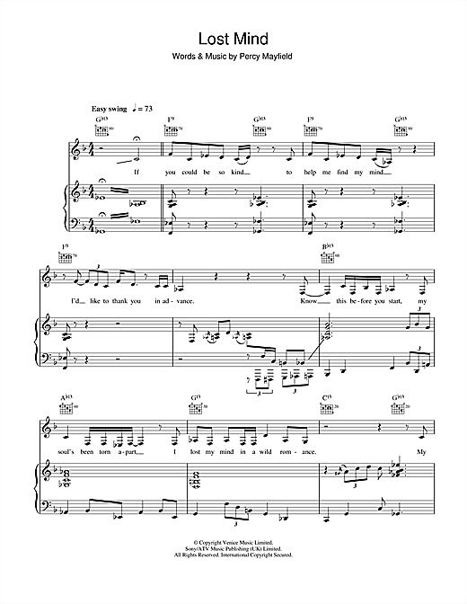 Lost Mind - Print Sheet Music Now