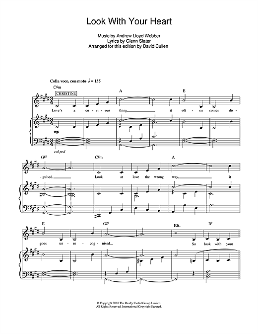 Look With Your Heart Sheet Music