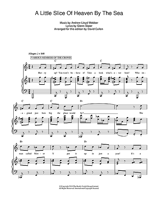 A Little Slice Of Heaven By The Sea Sheet Music
