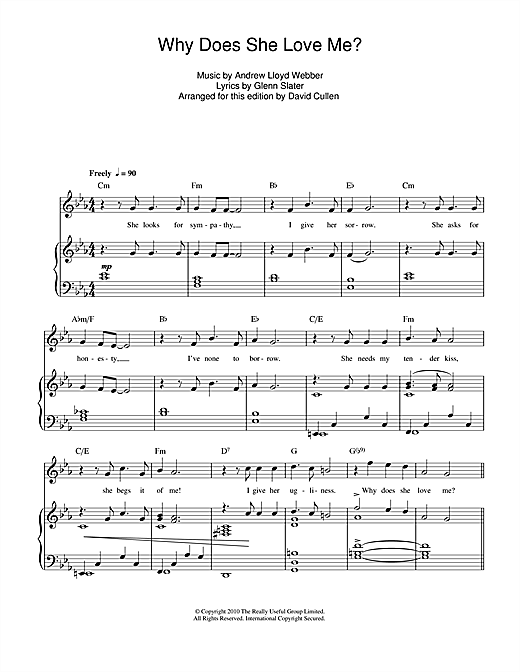 Why Does She Love Me? Sheet Music