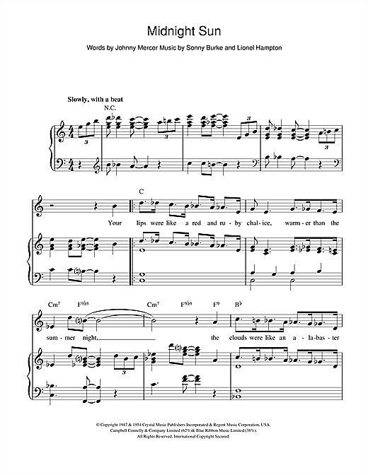 Midnight Sun Sheet Music
