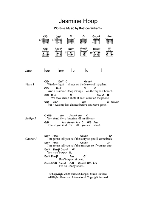 Jasmine Hoop Sheet Music