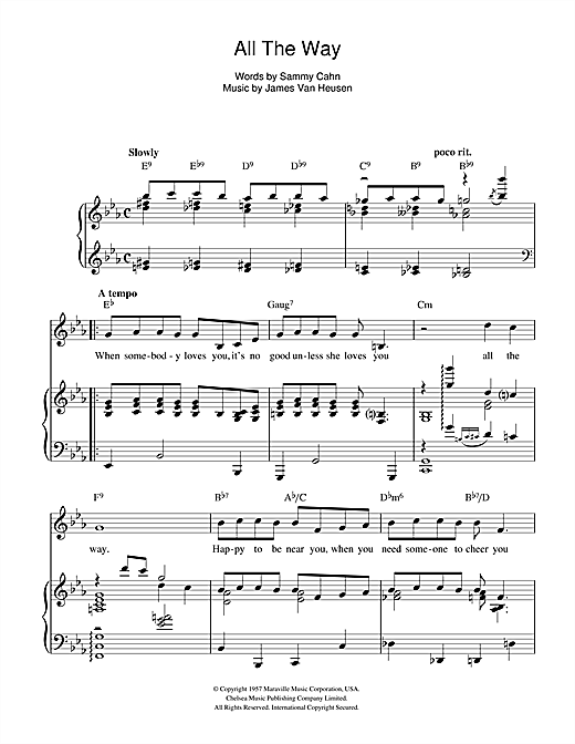 All The Way Sheet Music