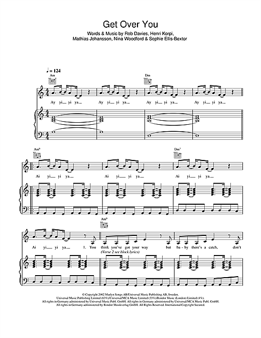 Get Over You Sheet Music