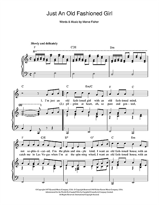Just an old fashioned love song chords 8