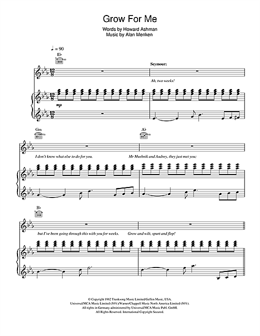 Grow For Me Sheet Music