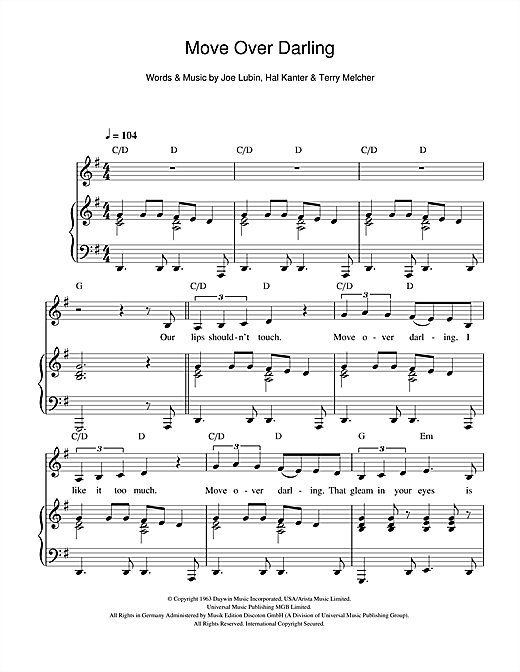 Move Over Darling Sheet Music