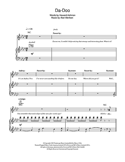 Da Doo Sheet Music