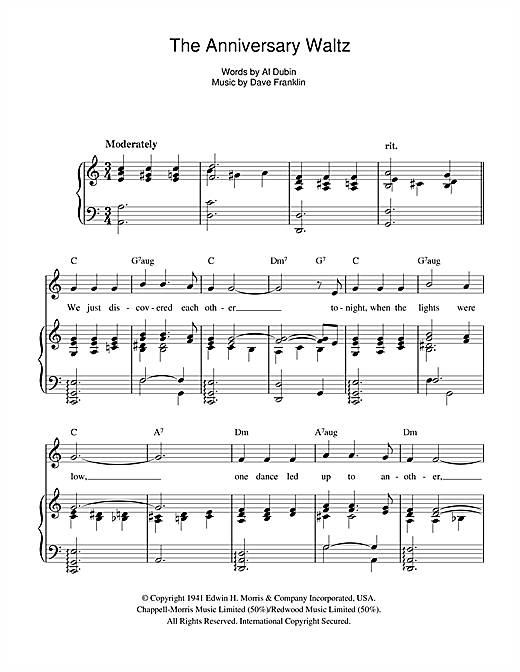 The Anniversary Waltz Sheet Music