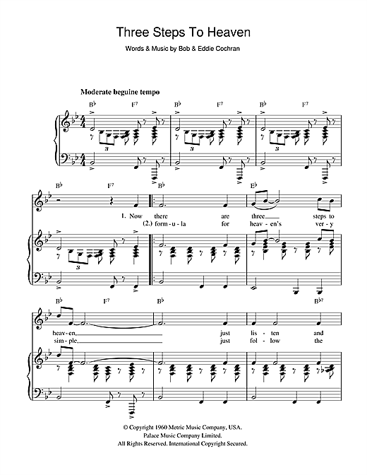 Three Steps To Heaven Sheet Music
