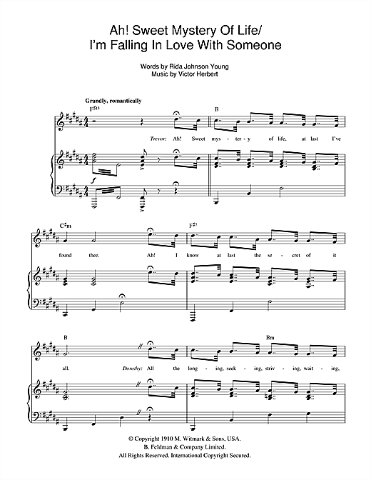 Ah! Sweet Mystery Of Life (from Thoroughly Modern Millie) Sheet Music