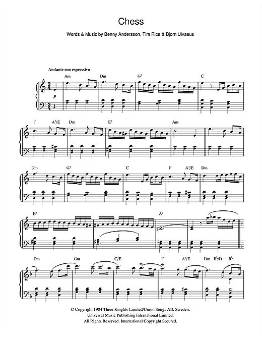 Chess Sheet Music