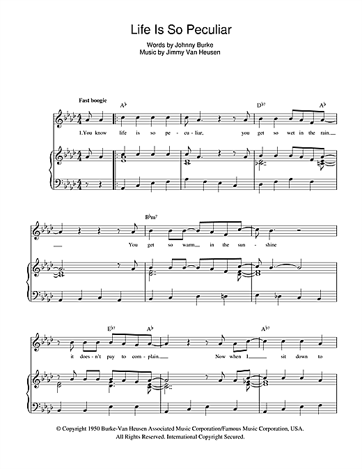 Life Is So Peculiar (from Five Guys Named Moe) Sheet Music