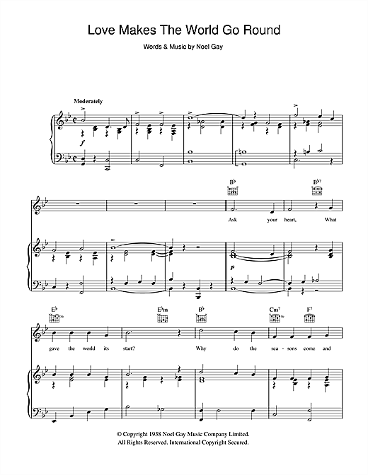 Love Makes The World Go Round (from Me And My Girl) Sheet Music