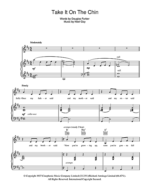 Take It On The Chin (from Me And My Girl) Sheet Music