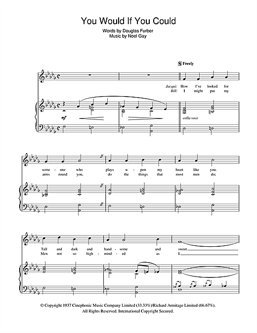 You Would If You Could (from Me And My Girl) Sheet Music