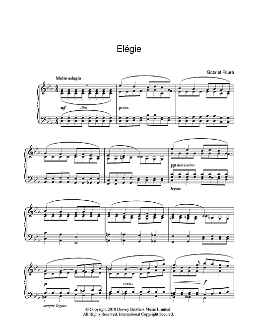 Elegie Sheet Music