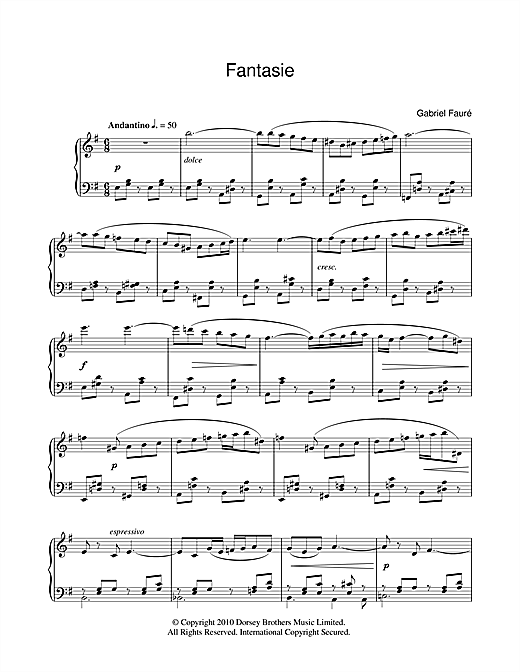 Fantasie, Op.79 Sheet Music