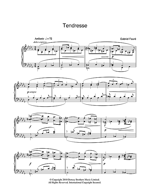 Tendresse Sheet Music